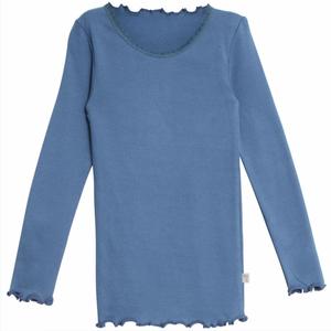 Bilde av Wheat Tshirt Lace, Blue Horizon, langermet genser