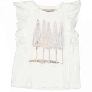 Bilde av Wheat T-Skjorte, Umbrellas, Ivory